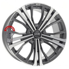 Автодиск OZ Cortina 9.5x20/5x130 d71.6 ET52 Matt Dark Graphite Diamond Cut
